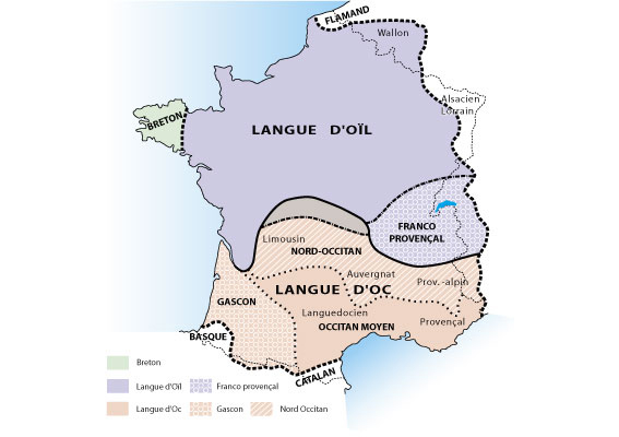 Carte de France des langues